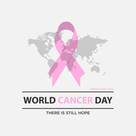 World cancer day concept. World awareness ribbon of cancer