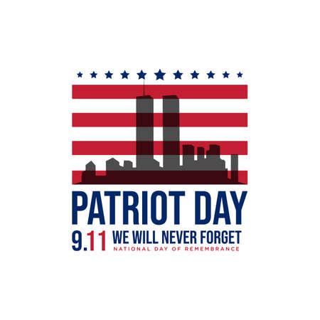 911 patriot day background patriot day september vector image. Never forget 9/11 patriot day Vektorové ilustrace