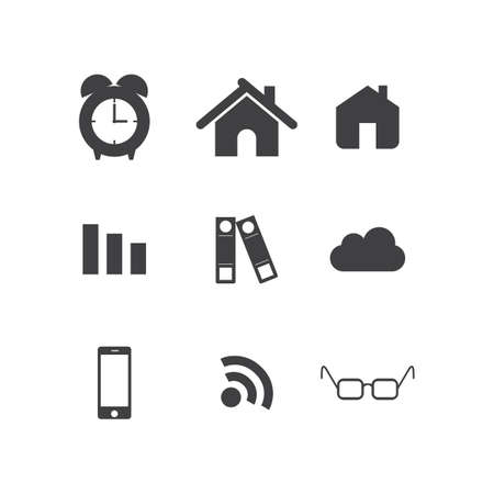 website element icons for web design. Modern website elements icon set. Vector file in layers for easy editing