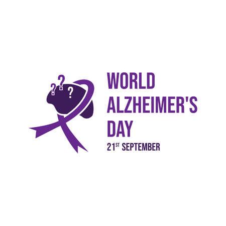 World Alzheimers Day vector design template banner image Çizim