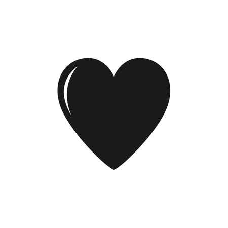 Minimalistic black heart icon template vector image. Black heart icon on white background black heart vector image