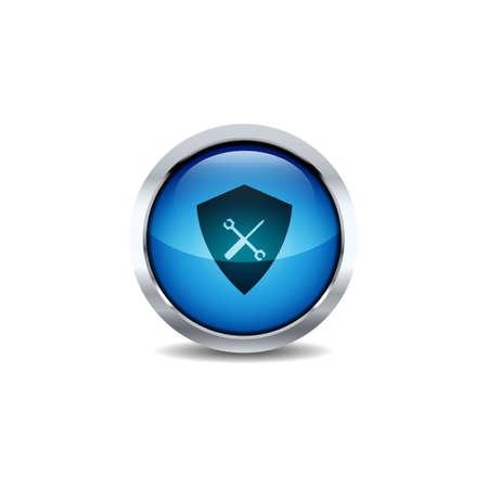 3D ui Circle button Icon Set Vector. Shiny circle button style vector icon set design image