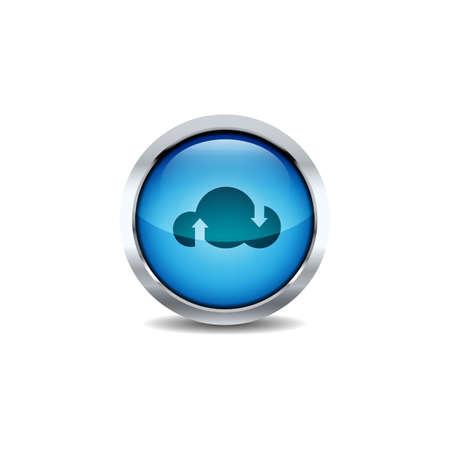 3D ui Circle button Icon Set Vector. Shiny circle button style vector icon set design image Reklamní fotografie - 133734792
