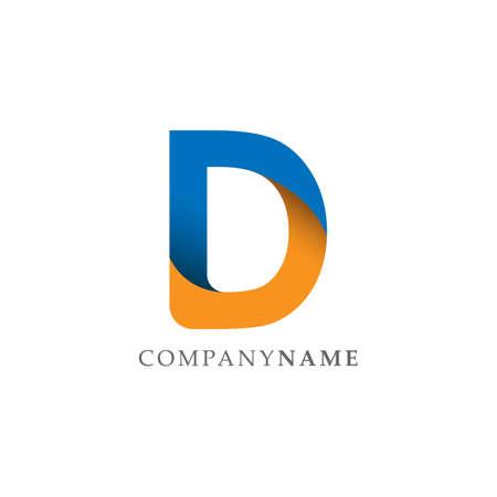 Letter D logo icon design template elements. Initial Letter D logo d letter design vector image