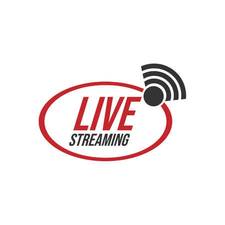 Live stream tv logo icon vector image. Live Streaming online sign vector design