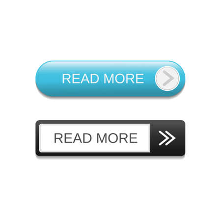 Read more button set vector image design. Web and ui application color button icon for modern website
