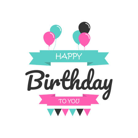 Happy birthday typography Lettering Design. Posters, Greeting Cards And Invitation