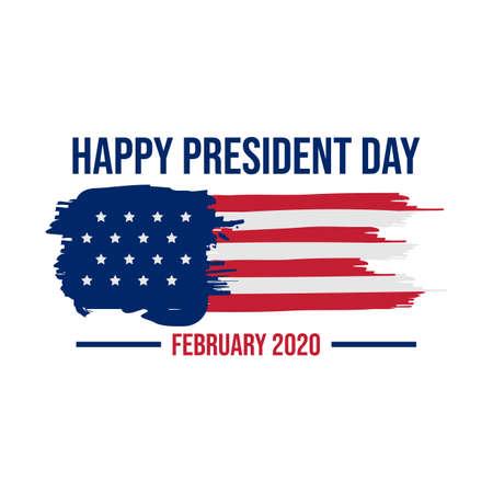 Happy president day february design image vector. President day usa national holiday vector image
