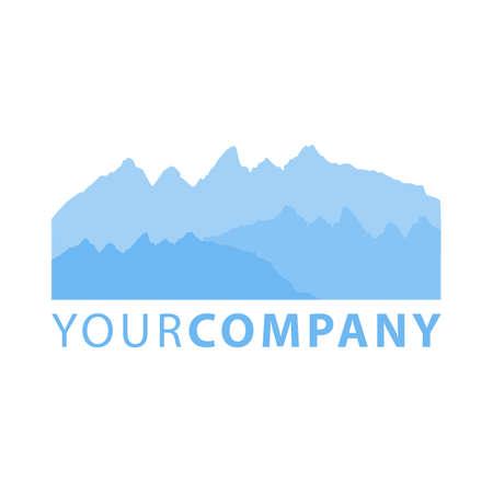 Vector illustration of blue mountain outdoor landscape flat design template vector image