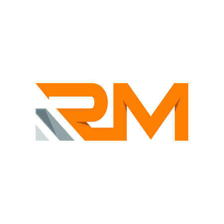 Letter RM modern typography logo design vector image isolated on a white background
