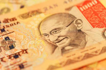 macro of Indan Currency photo