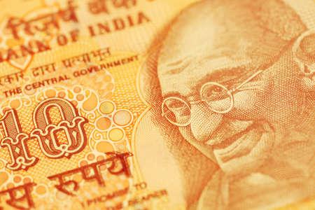 Close up of Inda rupee note photo