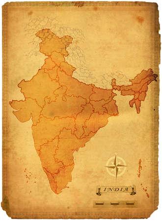 political map: Mapa pol�tico de la India