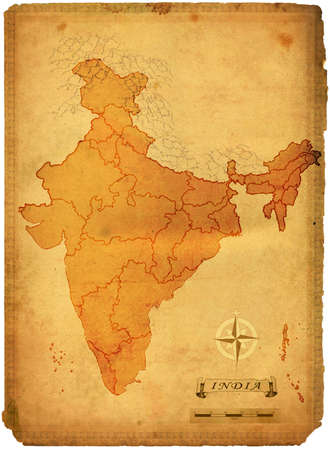 indian ocean: Political map of India