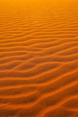 Red desert sand in the Namib desert, Namibia  Stock Photo