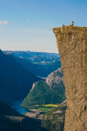 Relaxation at the Pulpit Rock, Norway