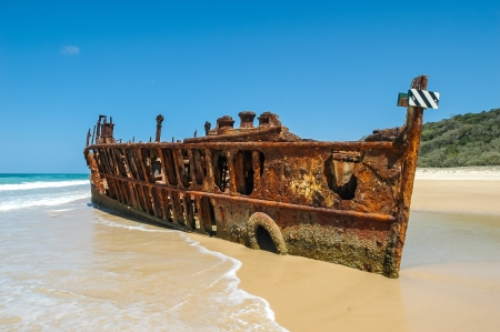 Shipwreck on Frazer Island, Australia photo