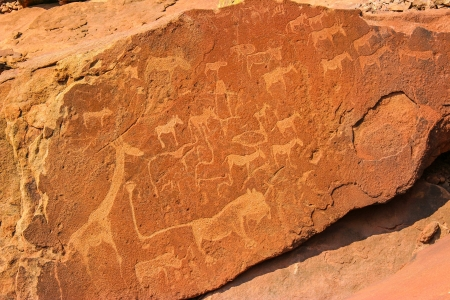 rock paintings at Twyfelfontein, Namibia