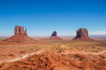 Red rock formations in Monument Valley, USA photo