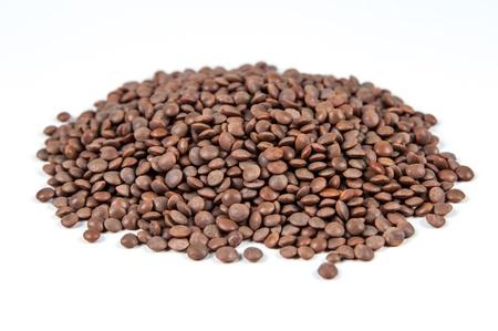 mountain-lentils, isolated on white background