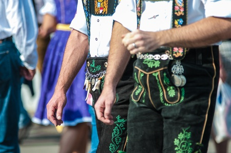 Traditional pants at the Munich Oktoberfest, Munich, Germany