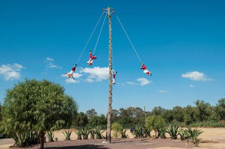 Los Voladores in Teotihuacán, Mexico