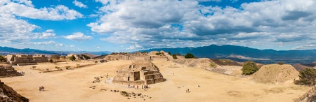 Panorama of the Mayan ruins at Monte Alban in Oaxaca, Mexico