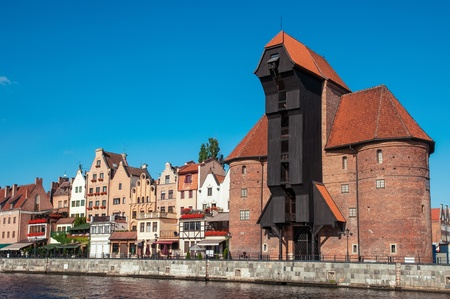 The famous crane in Gdansk, Poland