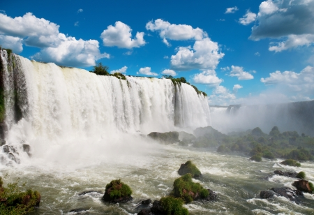 The Iguazu waterfalls. Argentina, Brazil, South America Stock Photo