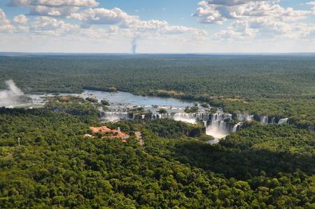 Aerial view of the Iguassu Falls Argentina