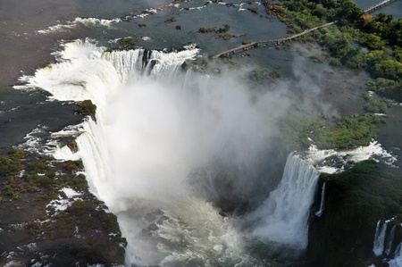 Aerial view of the Iguassu Falls Argentina