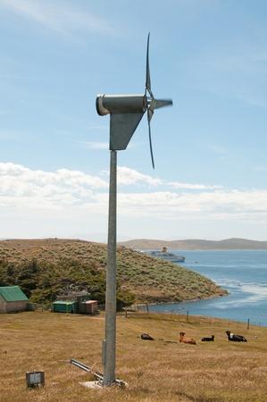 Wind turbine on a lonely farm Stock Photo - 12638591
