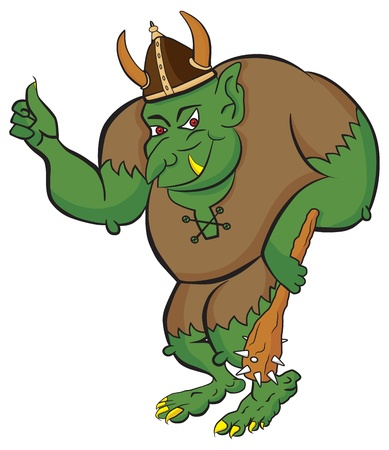 ogre: Troll showing thumbs up for Internet likes