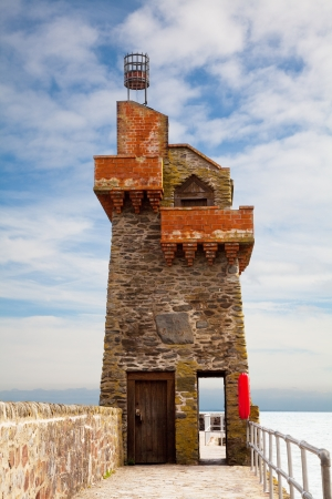 lynmouth: The Rhenish Tower in Lynmouth Harbour Devon UK Stock Photo