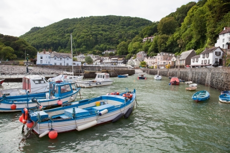 lynmouth: Lynmouth Harbour in Devon picturesque fishing village