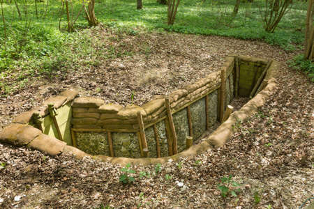 reconstructed: Reconstructed trenches at Thiepval Wood. Men of the 36th Ulster Division attacked the Schwaben Redoubt on the 1st July 1916 from these trenches, taking over 5000 casualties.