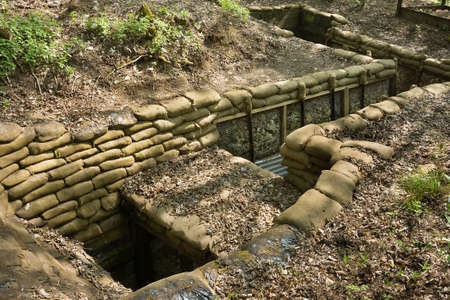Reconstructed trenches at Thiepval Wood. Men of the 36th Ulster Division attacked the Schwaben Redoubt on the 1st July 1916 from these trenches, taking over 5000 casualties.