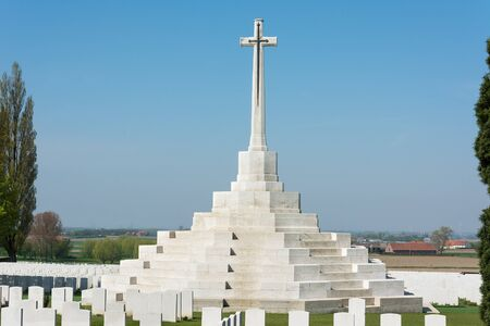 One of four memorials in the Ypres Salient commemorating the First World War dead