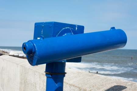 operated: Coin operated seaside telescope typical of English tourist resort.