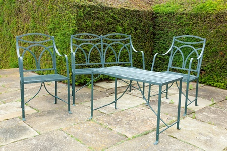 Set of patio furniture made of wrought iron  photo