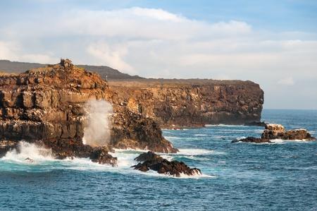 Rugged coastline of Espanola Island Galapagos