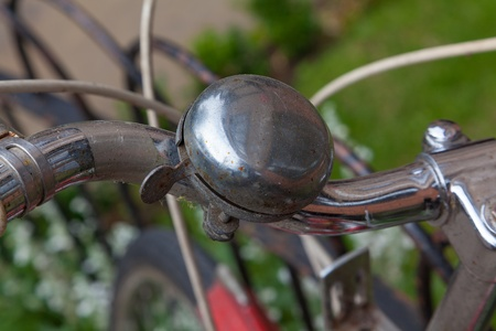 Close up of an old bicycle bell photo