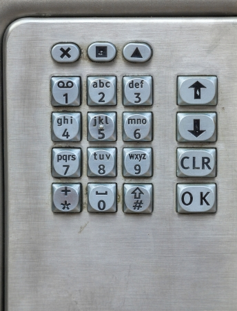 Close up of a payphone keypad. photo