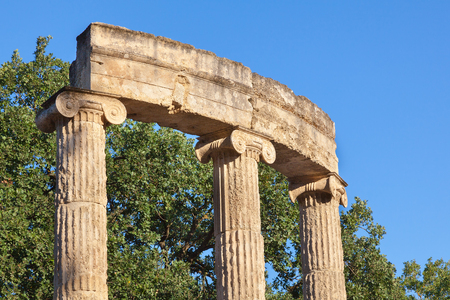 athenians: Philippeion collonade at Olympia Greece