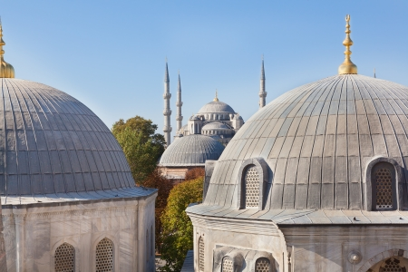 View of the Blue Mosque from the Hagia Sophia photo