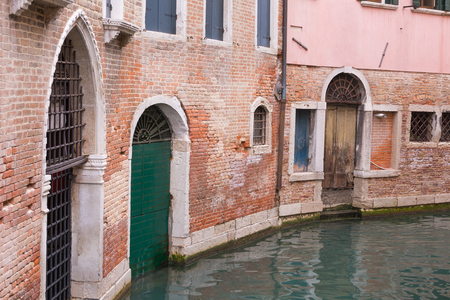 Back street scene in Venice Italy photo
