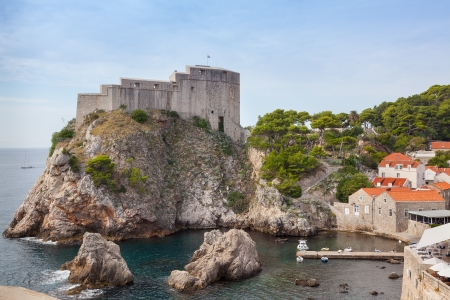 Lovrijenac fort in  Dubrovnik Stock Photo