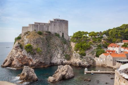 Lovrijenac fort in  Dubrovnik Stock Photo