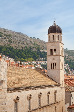The Clock Tower overlooking the centre of Dubrovnik Croatia