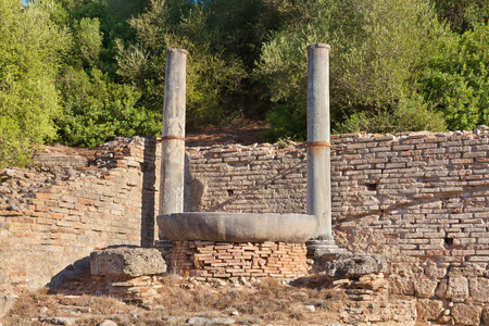 Nympheum of Herodes Atticus at Olympia Greece